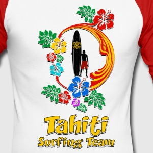 Tahiti Surfing Team 04 Manches longues - T-shirt baseball manches longues Homme