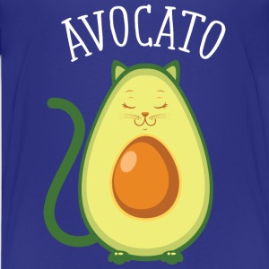 Avocato | Cute Cat Avocado Design T-shirts - Premium-T-shirt tonåring
