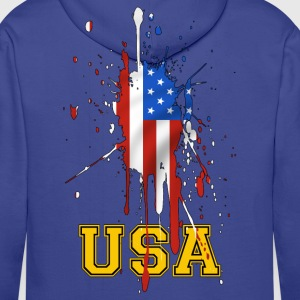 USA grunge flag 02 Sweat-shirts - Sweat-shirt à capuche Premium pour hommes