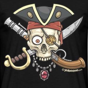 Yobeeno Pirate Skull T-Shirts - Men's T-Shirt