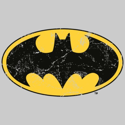 DC Comics Batman Logo Used Look