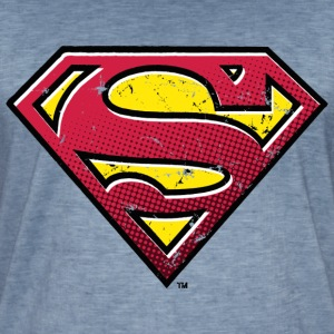 DC Comics Superman Logo Used Look - Männer Vintage T-Shirt