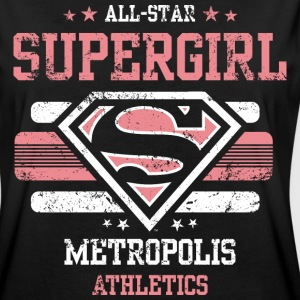 DC Comics Supergirl Logo All-Star - Frauen Oversize T-Shirt