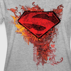 DC Comics Superman Logo Strength - Frauen Oversize T-Shirt