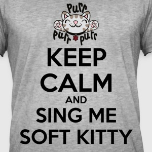 The Big Bang Theory Soft Kitty - T-shirt vintage Homme
