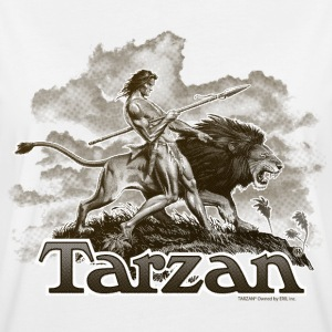Tarzan Wild Lion Cool Drawing - Women's Oversize T-Shirt