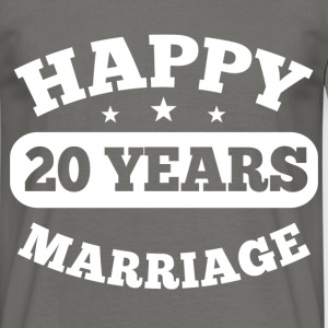 20 Year Happy Marriage T-Shirts - Männer T-Shirt