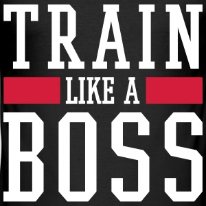 TRAIN LIKE A BOSS T-Shirts - Männer Slim Fit T-Shirt