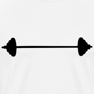 Barbell (cheap!) T-shirts - Mannen Premium T-shirt
