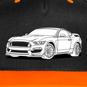 Cool Car White Caps & Hats - Contrast Snapback Cap