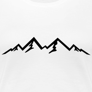 Mountain, Mountains (super cheap!) T-shirts - Vrouwen Premium T-shirt