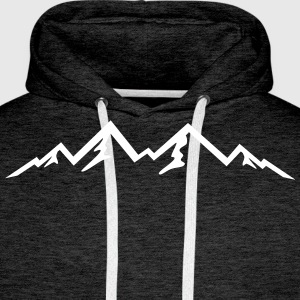 Mountain, Mountains (super cheap!) Sweat-shirts - Sweat-shirt à capuche Premium pour hommes