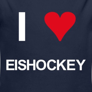 I love eishockey - Baby Bio-Langarm-Body
