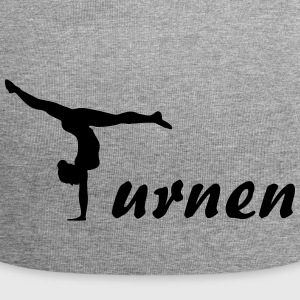 Turnen, Gymnast, Gymnastics (super cheap design) Caps & Hats - Jersey Beanie