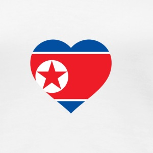 I Love North Korea (DPR Korea) T-shirts - Premium-T-shirt dam