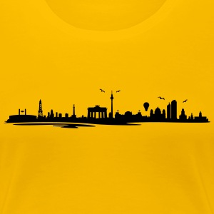 Skyline - Berlin T-Shirts - Frauen Premium T-Shirt