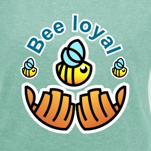 Save the Bees T-shirt - Frauen T-Shirt mit gerollten Ärmeln