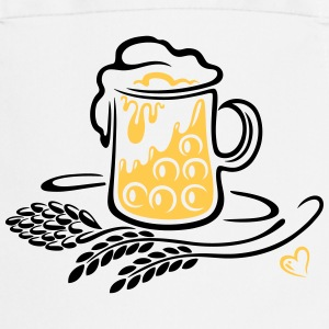 Beer glass with hops, cereals and heart  - Cooking Apron