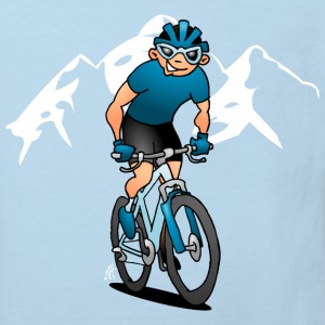 MTB - Mountainbiker in den Bergen T-Shirts - Kinder Bio-T-Shirt