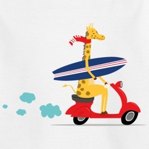 Giraffe riding Vespa T-Shirts - Teenager T-Shirt