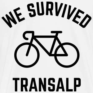We Survived Transalp (Alpen / Rennrad) T-Shirts - Männer Premium T-Shirt