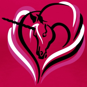 Einhorn Herzform unicorn heart T-Shirts - Frauen Premium T-Shirt
