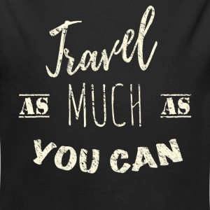 Travel as much as you can Vintage Babybody - Økologisk langermet baby-body