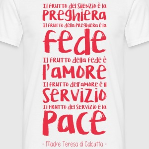 Preghiera, fede, amore Tee shirts - T-shirt Homme