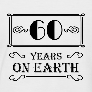 60 years on earth T-Shirts - Men's Baseball T-Shirt