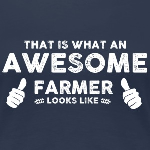 Farmer Awesome farmer T-Shirts - Women's Premium T-Shirt
