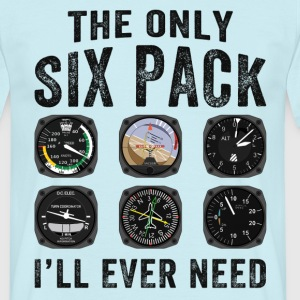 Pilots Six Pack Airplane Instruments T-Shirts - Men's T-Shirt