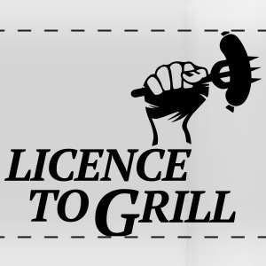 licence to grill BBQ grillen Würstchen Barbecue Mugs & Drinkware - Panoramic Mug