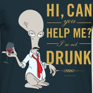 American Dad Roger Drunk - T-shirt herr