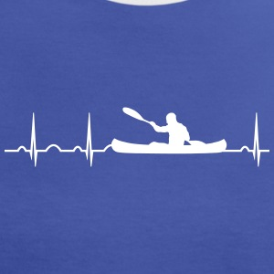 ECG heart rate canoe watersports canoeists paddle T-Shirts - Women's Ringer T-Shirt