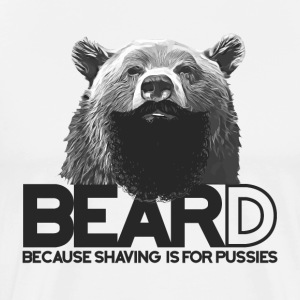 Bear and beard / ours avec barbe Tee shirts - T-shirt Premium Homme