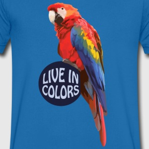 Parrot - Live in colors T-Shirts - Men's Organic V-Neck T-Shirt by Stanley & Stella