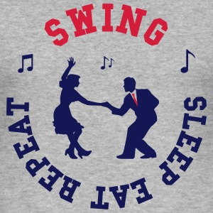Swing - Eat - Sleep - Repeat Tee shirts - Tee shirt près du corps Homme