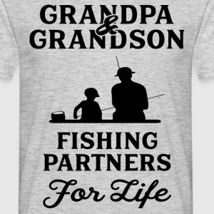 Grandpa And Grandson Fishing Partners For Life T-Shirts - Men's T-Shirt