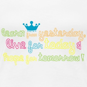Learn Live Hope T-Shirts - Frauen Premium T-Shirt