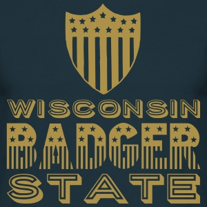 Wisconsin BADGER STATE Tee shirts - T-shirt Homme