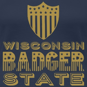 Wisconsin BADGER STATE Tee shirts - T-shirt Premium Femme