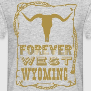 FUNNY WYOMING FOREVERWEST Tee shirts - T-shirt Homme
