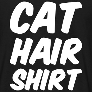cat hair shirt T-Shirts - Männer T-Shirt