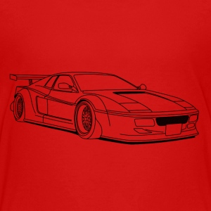 cool car outlines T-shirts - Premium-T-shirt tonåring