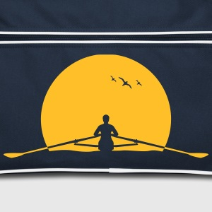 Rowing sunset rower rowing skulls Bags & Backpacks - Retro Bag