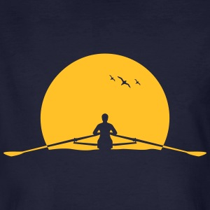 Rowing sunset rower rowing skulls T-Shirts - Men's Organic T-shirt