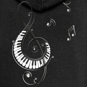 Clef with piano and music notes, i love music. Hoodies & Sweatshirts - Women's Premium Hooded Jacket