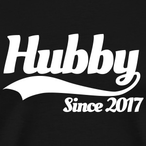 Hubby since 2017 (couples) T-shirts - Mannen Premium T-shirt
