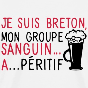breton groupe sanguin a peritif citation Tee shirts - T-shirt Premium Homme