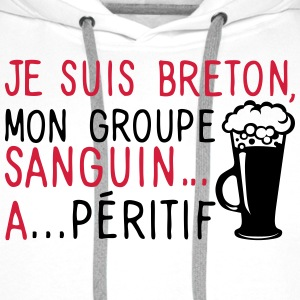 breton groupe sanguin a peritif citation Sweat-shirts - Sweat-shirt à capuche Premium pour hommes